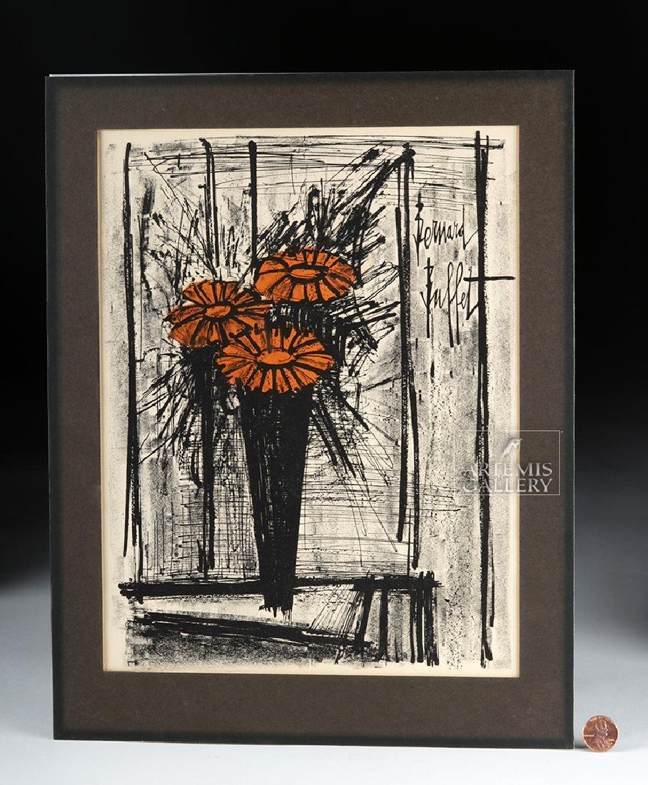 Bernard Buffet Original Lithograph - Flowers, 1968 - 4