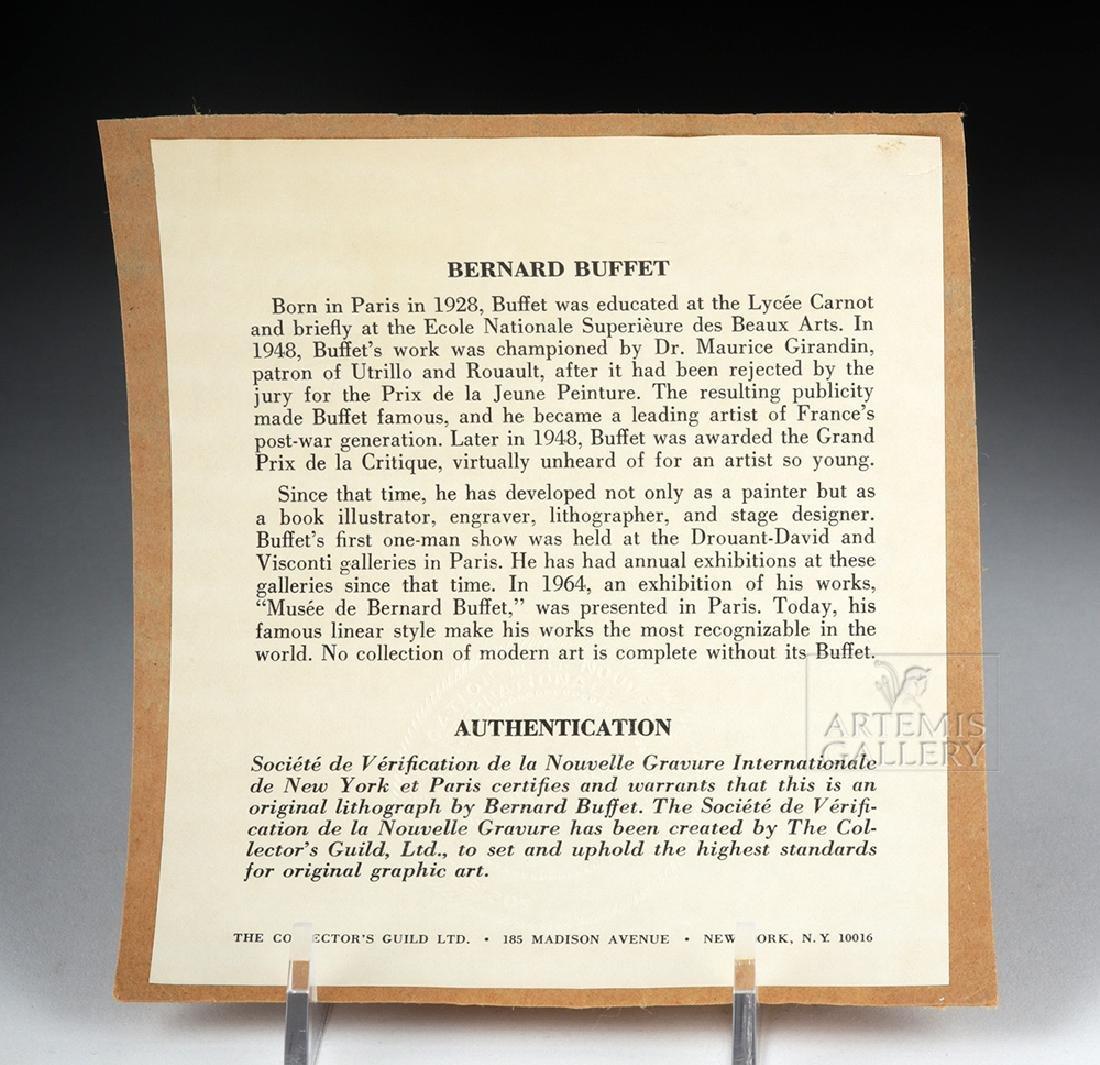 Bernard Buffet Original Lithograph - Flowers, 1968 - 6