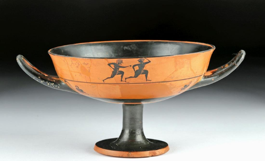 Greek Attic Black-Figure Kylix - Athletes, TL Test