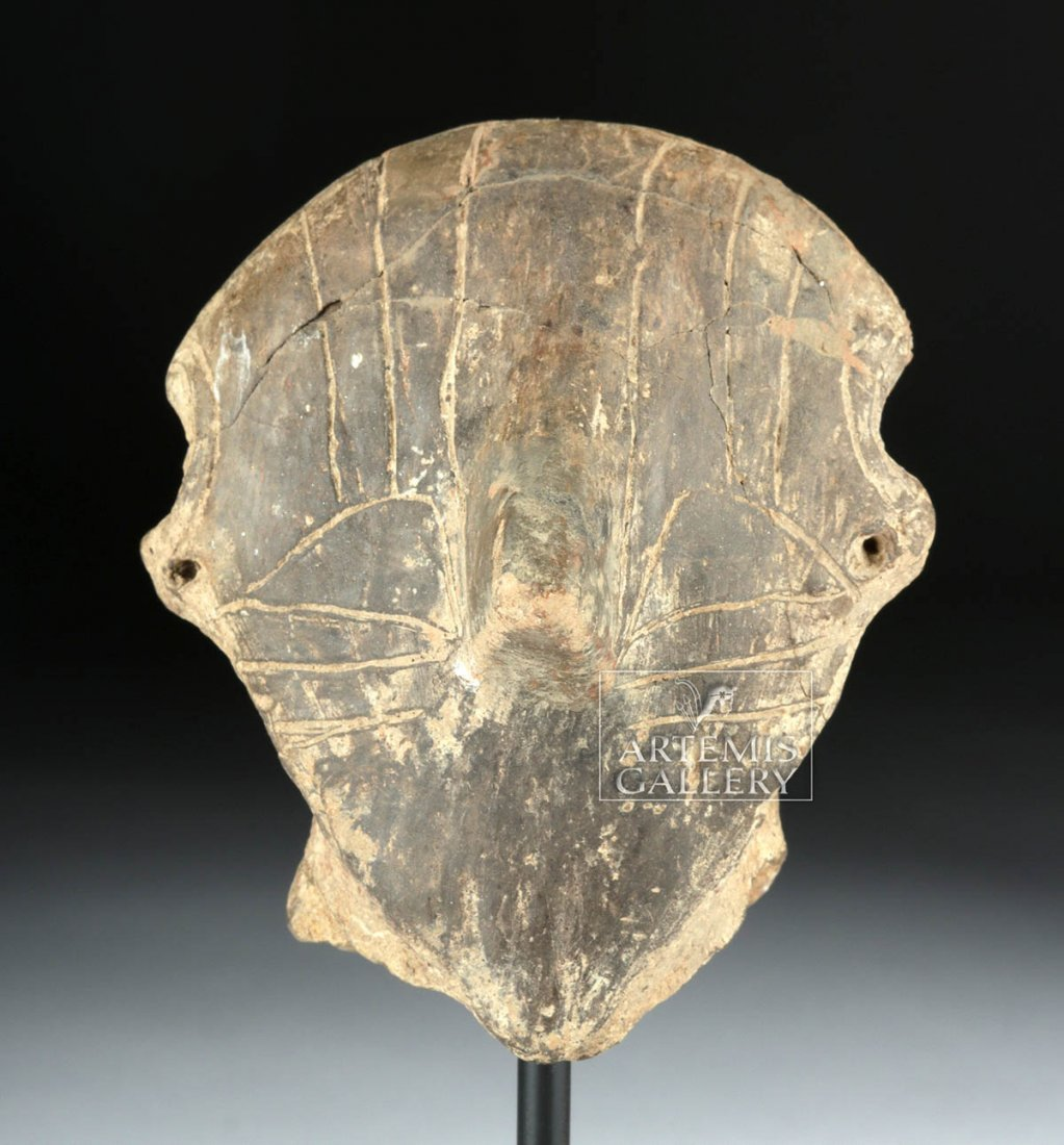 Neolithic Vinca Clay Head w/ Incised Design, TL Test
