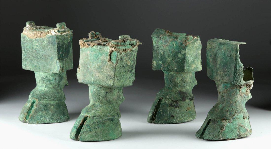 Huge Sabean Bronze / Lead Bull Hooves & Legs (4)