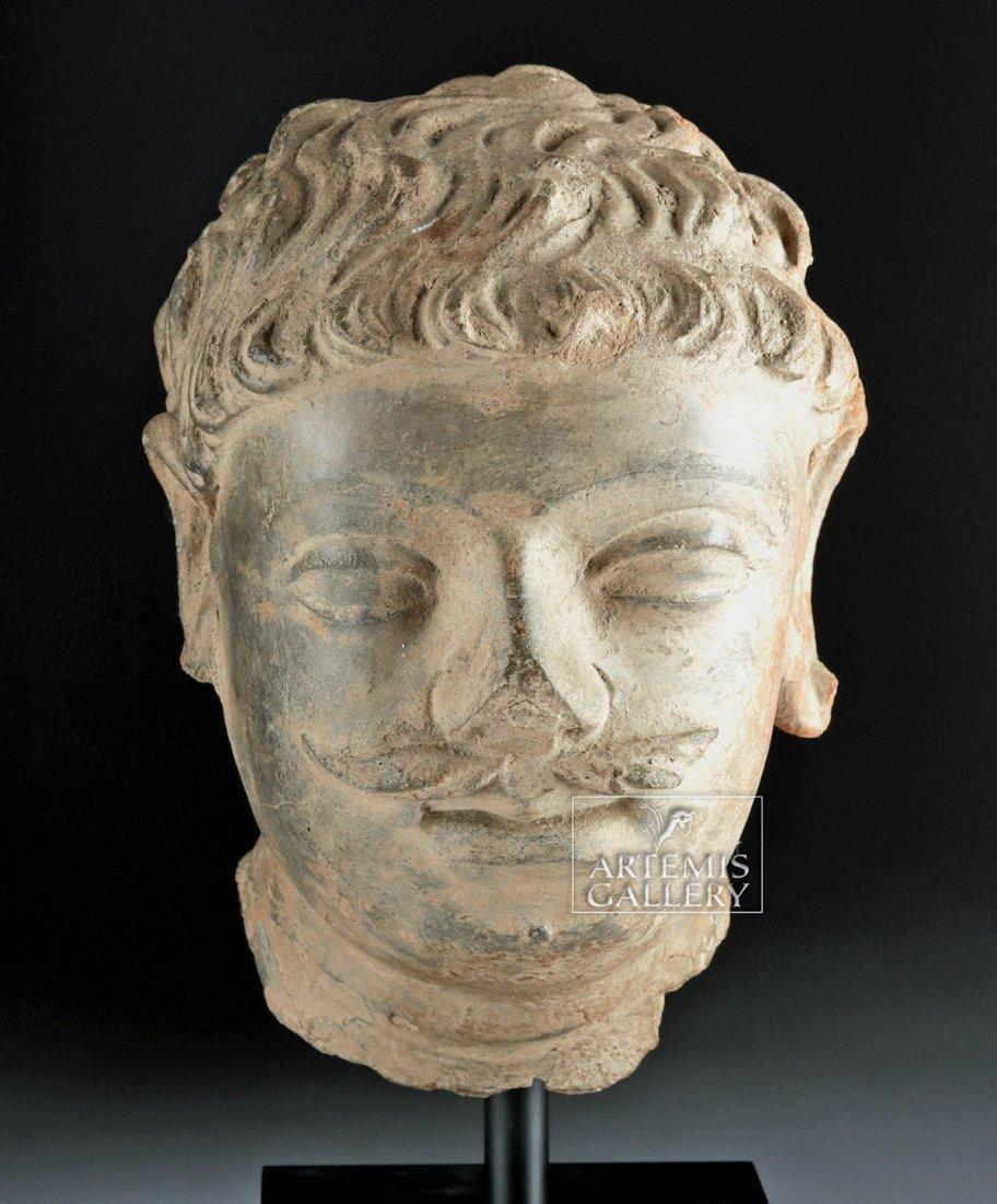 Gandharan Terracotta Head of a Bodhisattva