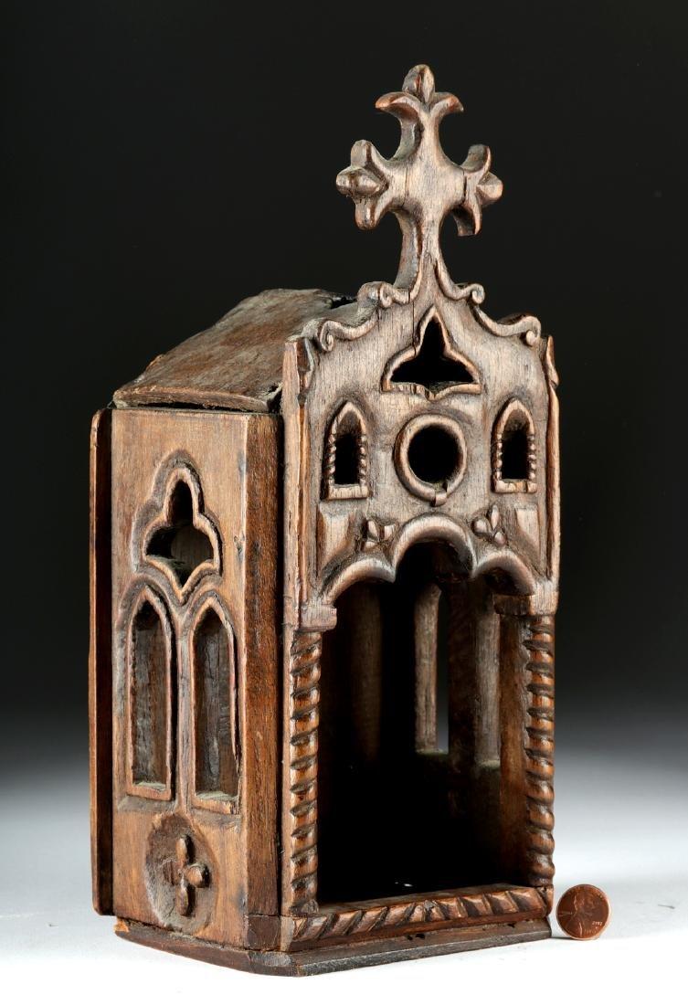 19th C. European Wooden Nicho