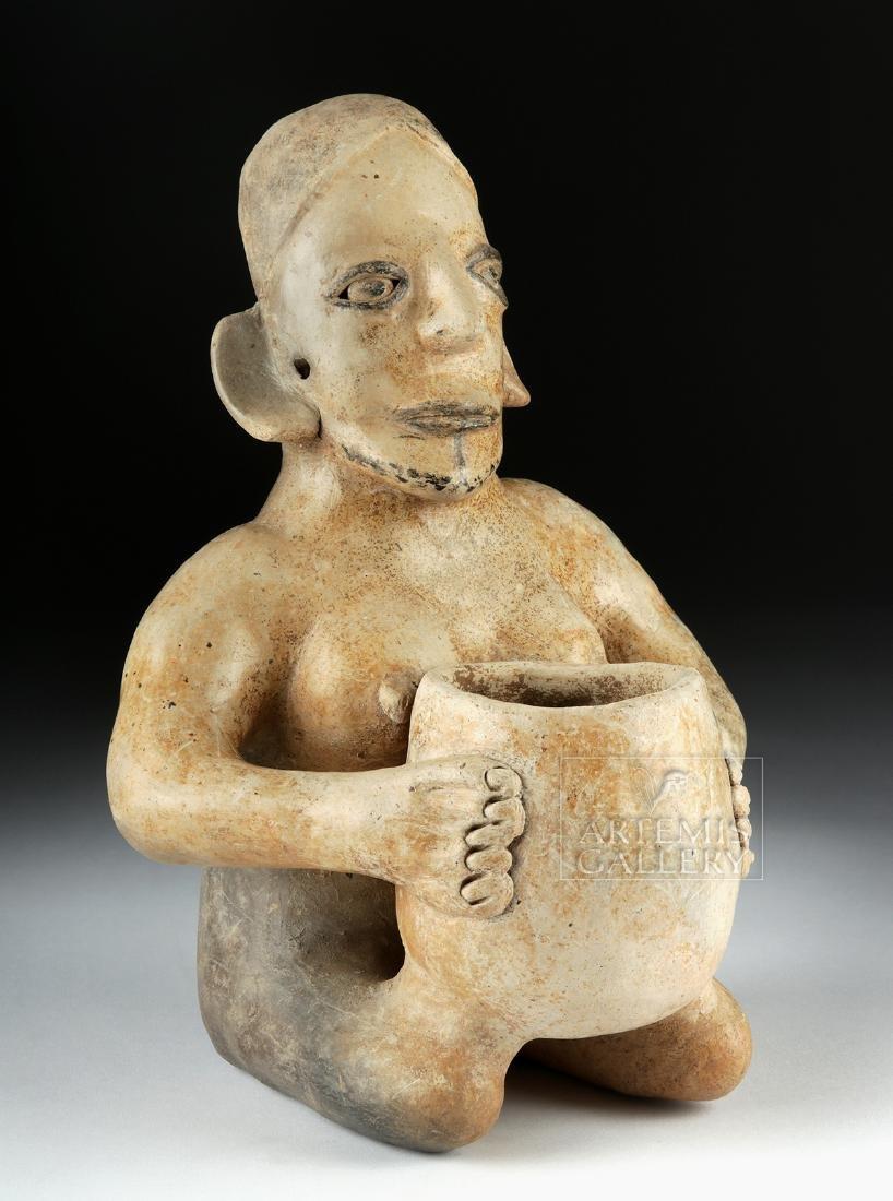 Jalisco Kaolin Ceramic Woman Holding Olla, ex-Hollywood