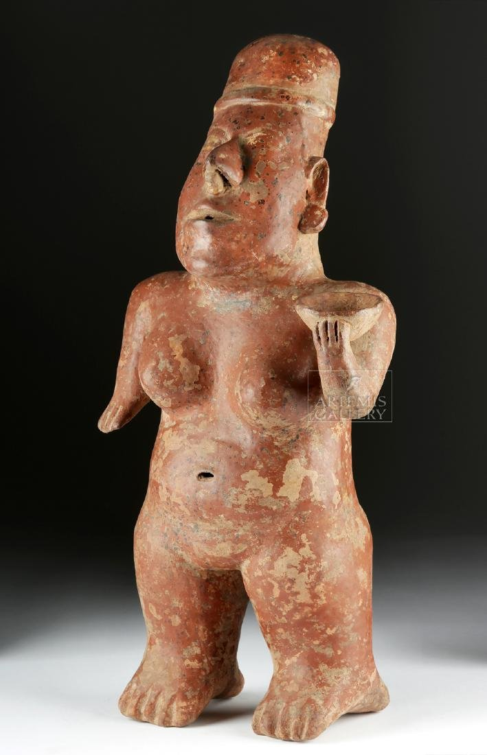 Jalisco Pottery Nude Woman w/ Bowl, ex-Hollywood
