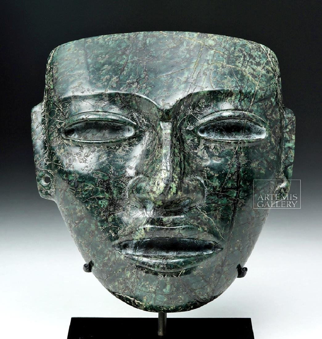 Superb Teotihuacan Green Stone Mask