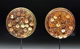 Moche Royal 14K Gold Ear Spools - 56.6 g