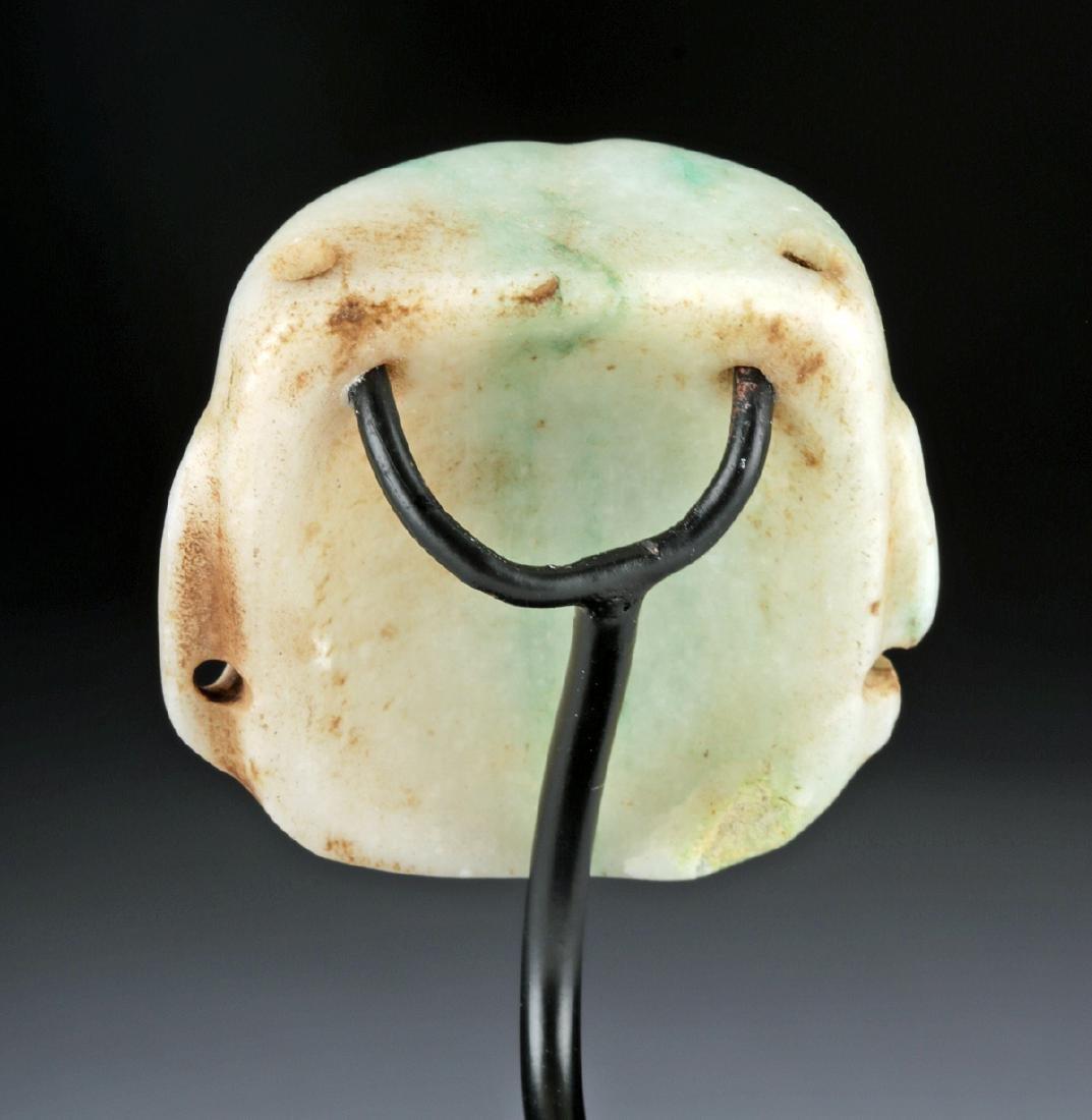 Superb Olmec Carved Jade Maskette - 3