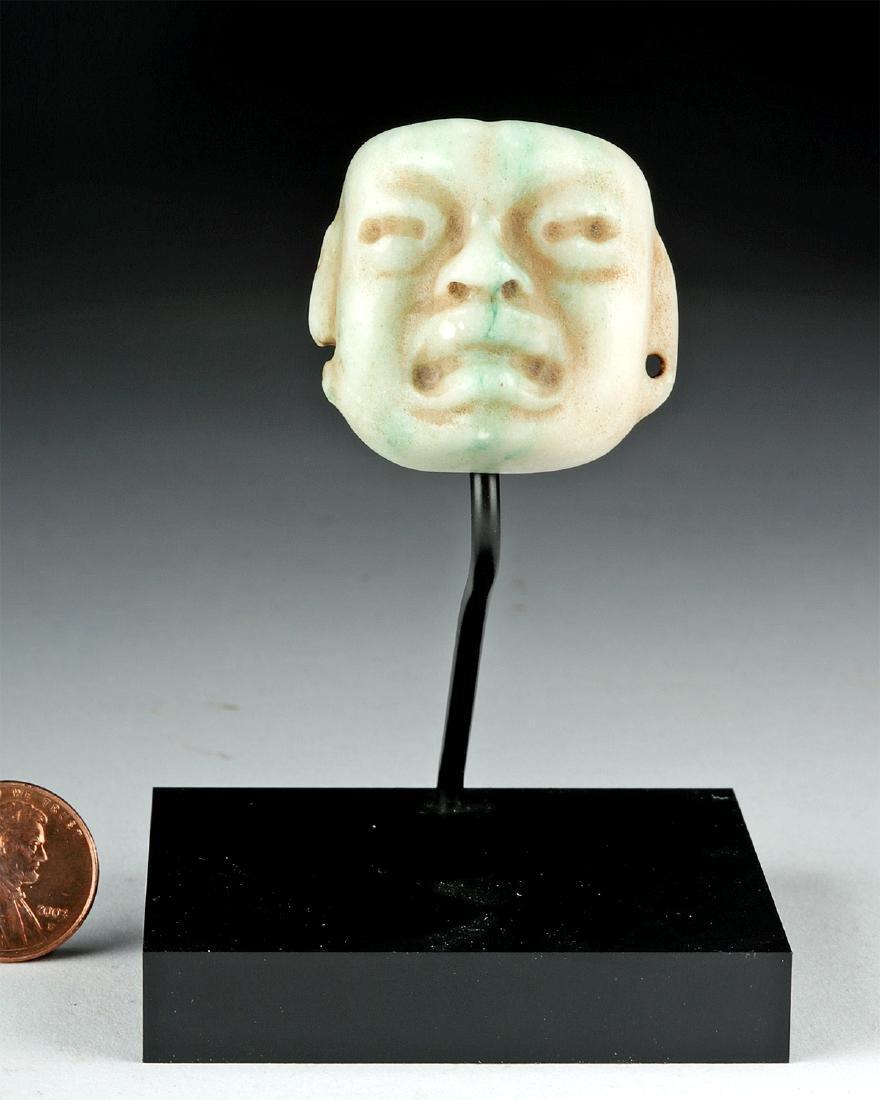 Superb Olmec Carved Jade Maskette - 4