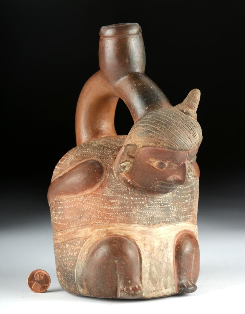 Chavin Pottery Figural Stirrup Vessel - Prisoner - 2