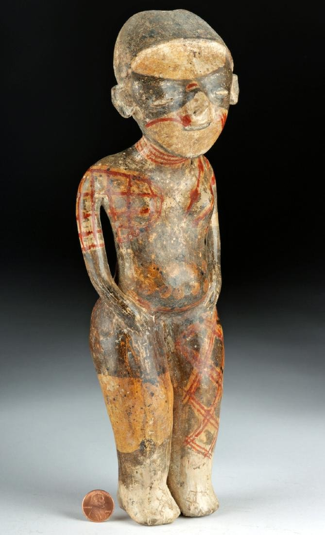"Nayarit ""Chinesco"" Polychrome Woman - ex-Sotheby's - 3"