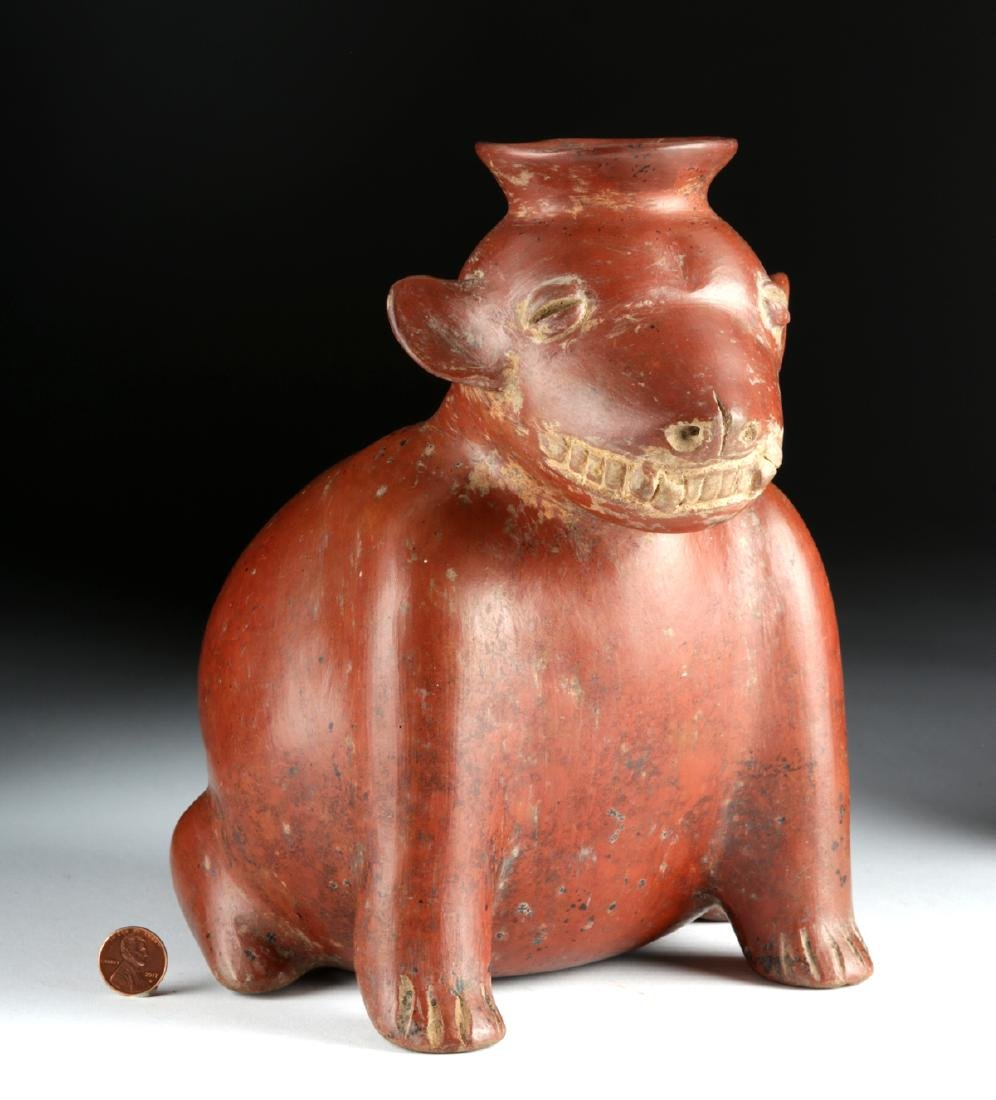 Colima Pottery Redware Dog Vessel