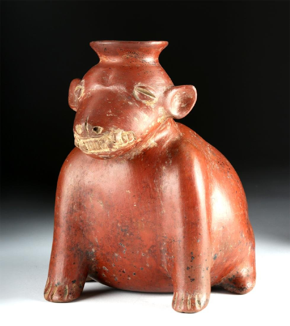 Colima Pottery Redware Dog Vessel - 2