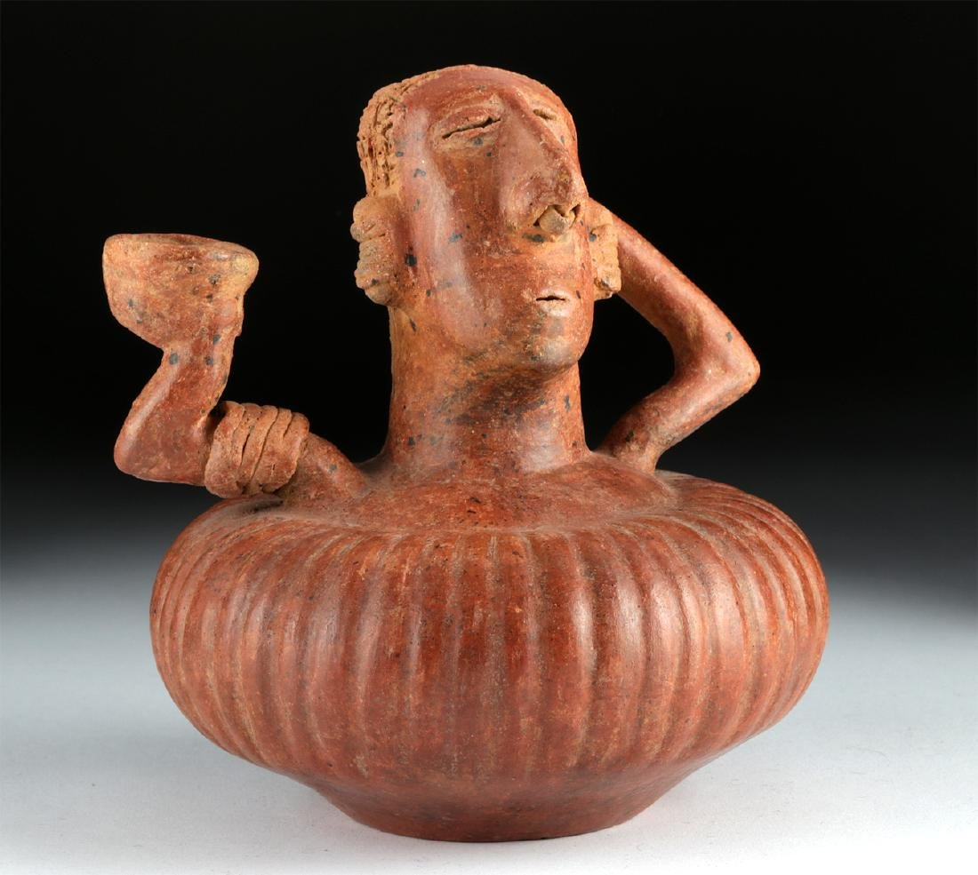 Unusual Nayarit Chinesco Pottery Olla, ex-Arnovick