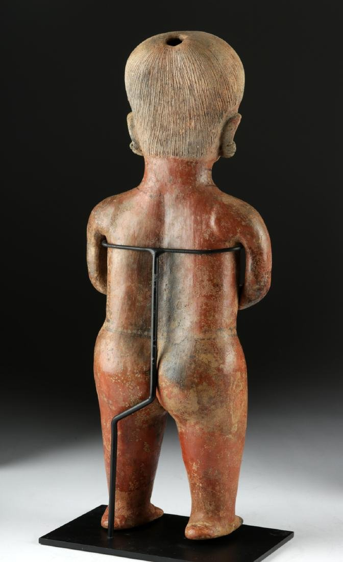 Massive Nayarit Chinesco Pottery Standing Female Statue - 4