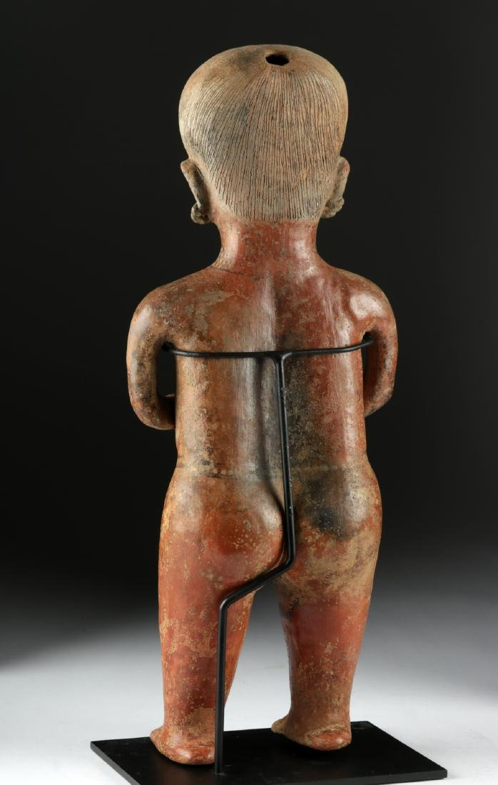 Massive Nayarit Chinesco Pottery Standing Female Statue - 5
