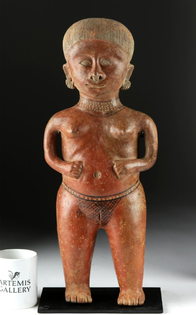 Massive Nayarit Chinesco Pottery Standing Female Statue - 6