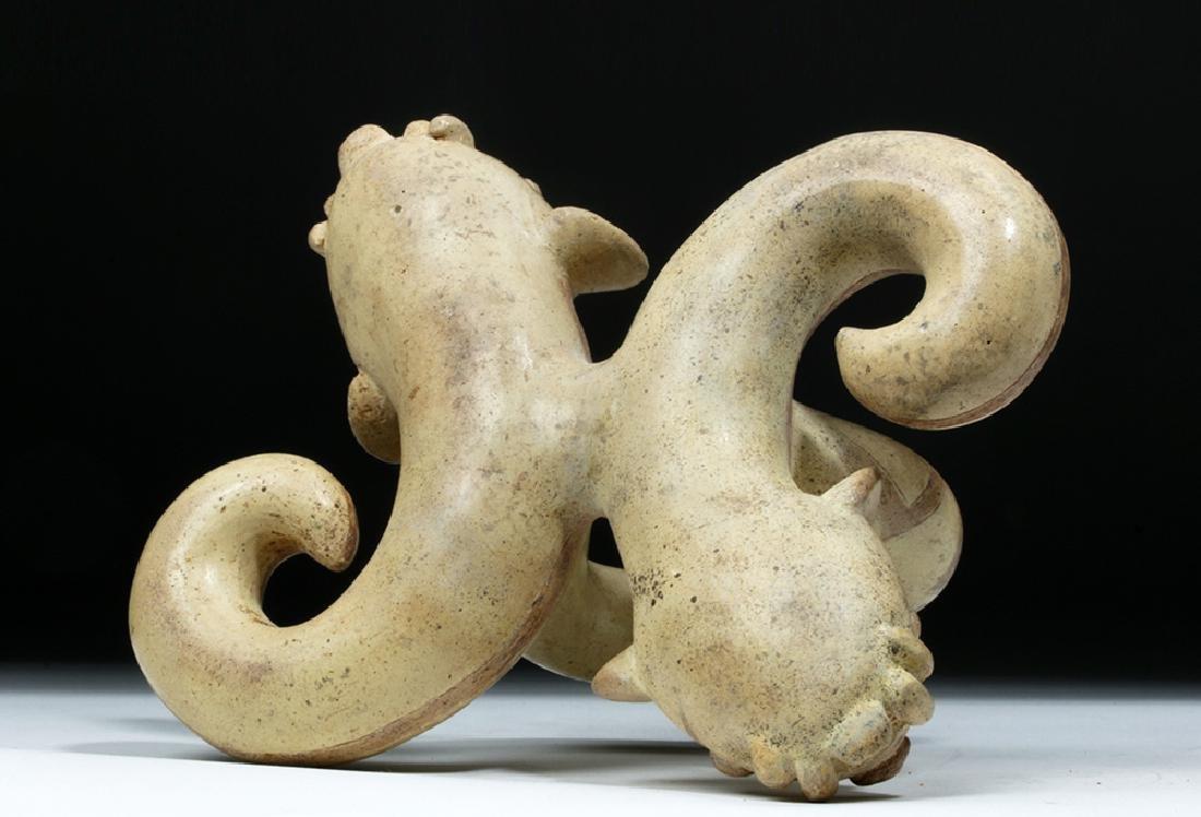 Moche I Pottery Double Snake Stirrup - TL Tested - 7