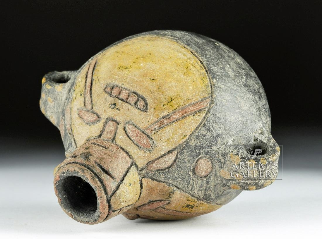 Paracas Polychrome Anthropomorphic Effigy Vessel - 4