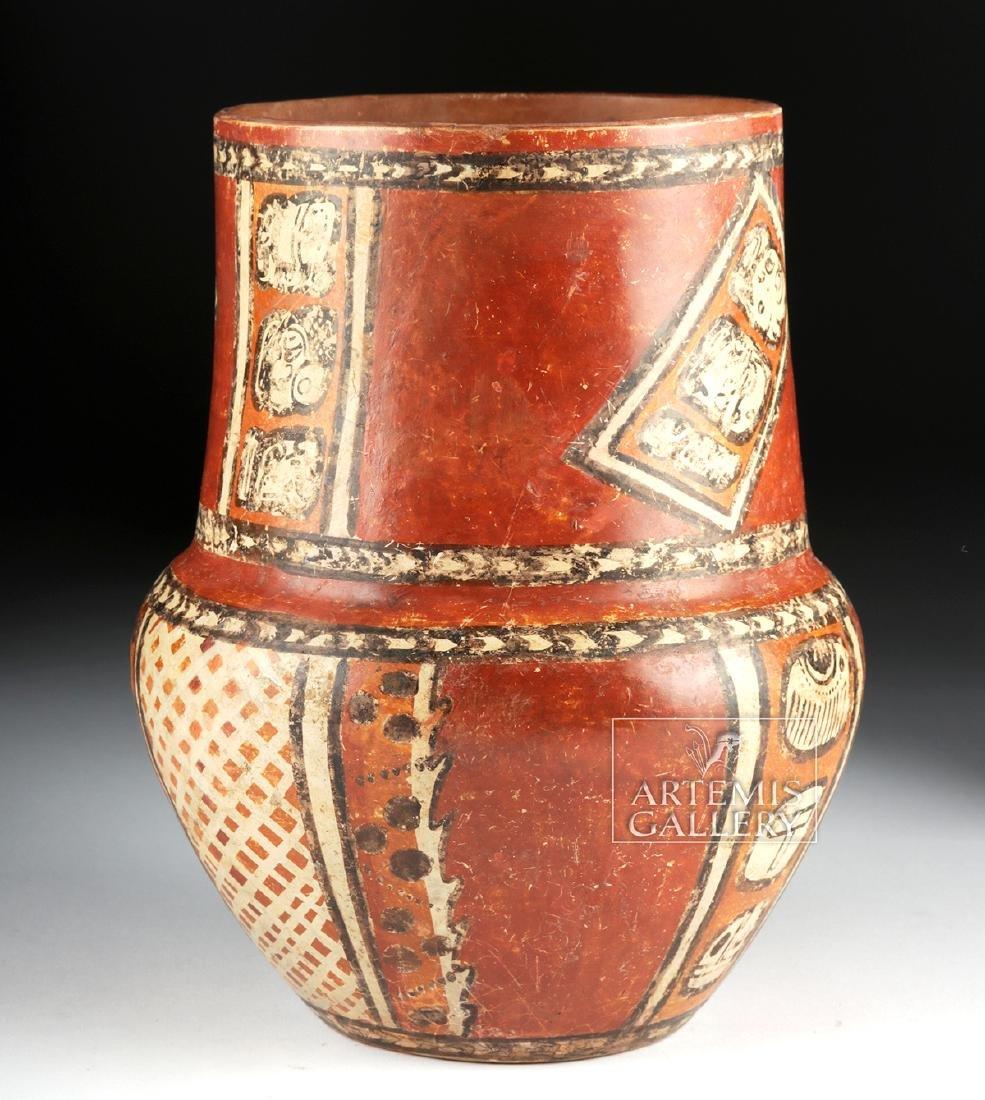 Superb Mayan Chama Polychrome Jar w/ Glyphs - 5