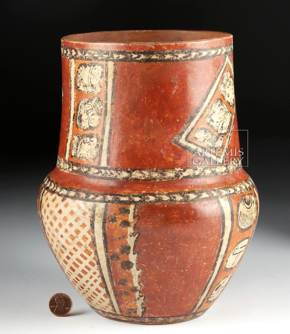 Superb Mayan Chama Polychrome Jar w/ Glyphs - 6
