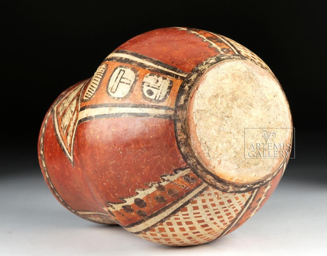 Superb Mayan Chama Polychrome Jar w/ Glyphs - 8