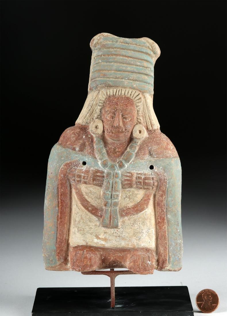 Maya Jaina Ceramic Effigy Whistle of an Elite