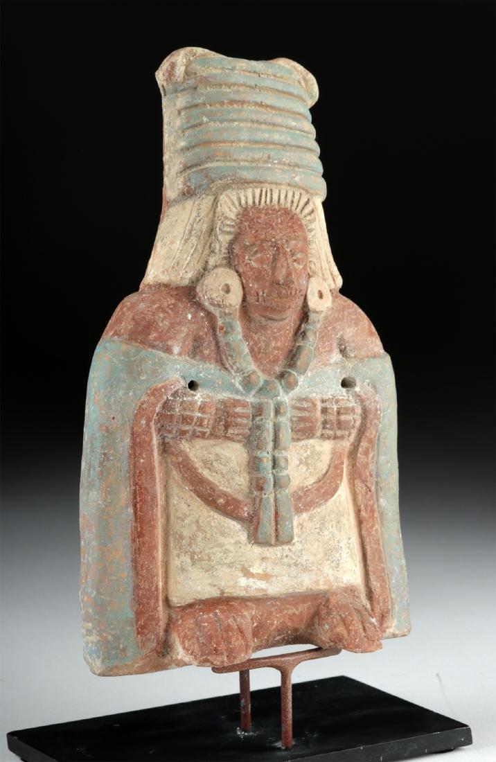 Maya Jaina Ceramic Effigy Whistle of an Elite - 5