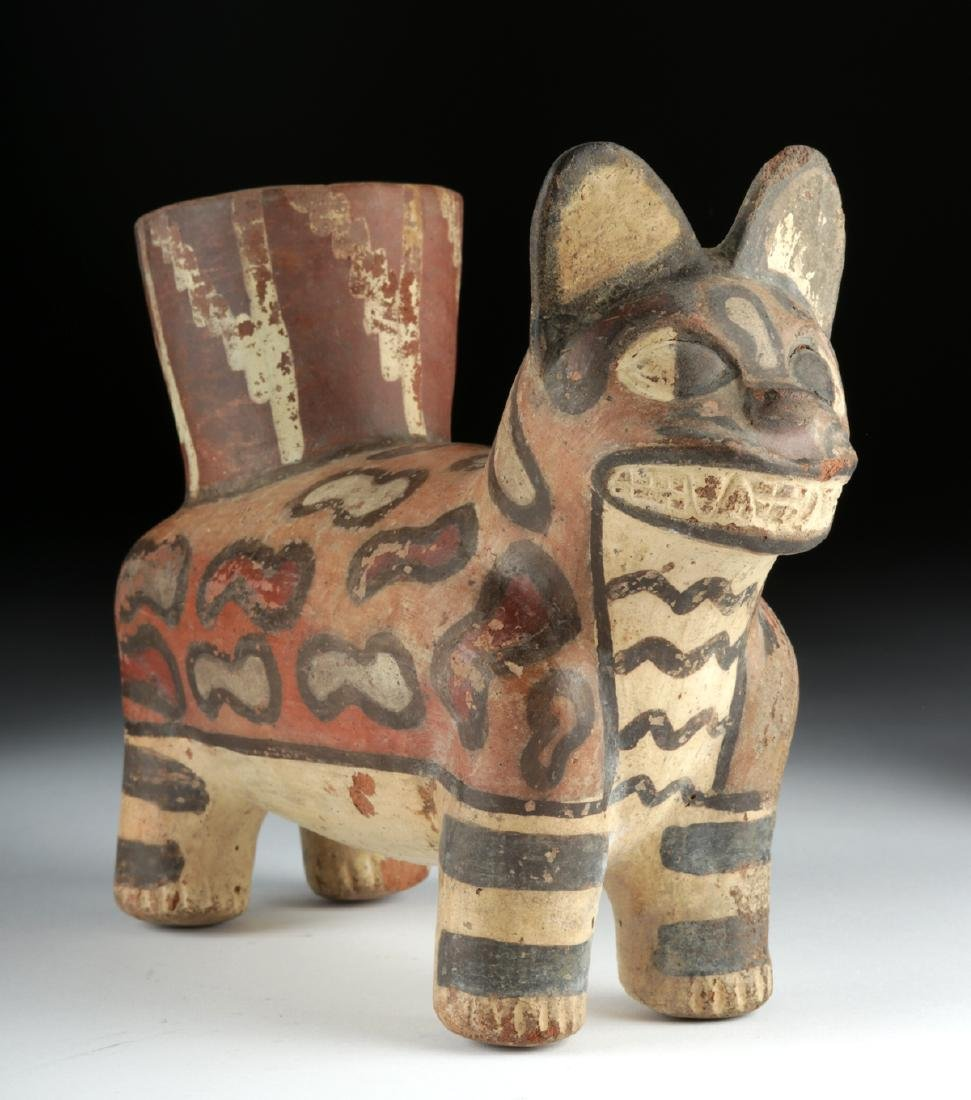 Huari Pottery Painted Jaguar Vessel - 2