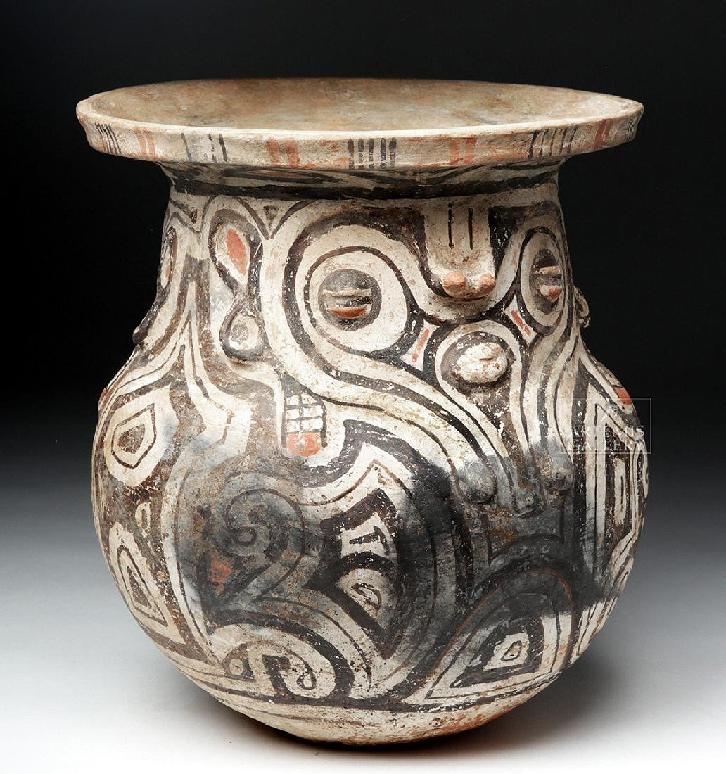 Marajoara Ceramic Vessel - Woman / Owl Figures -TL Test - 2