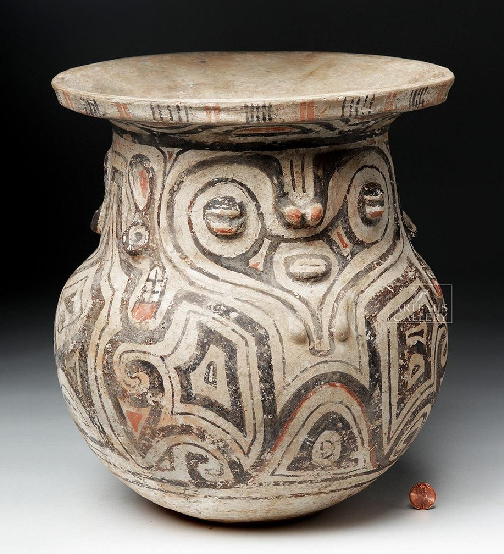 Marajoara Ceramic Vessel - Woman / Owl Figures -TL Test - 5