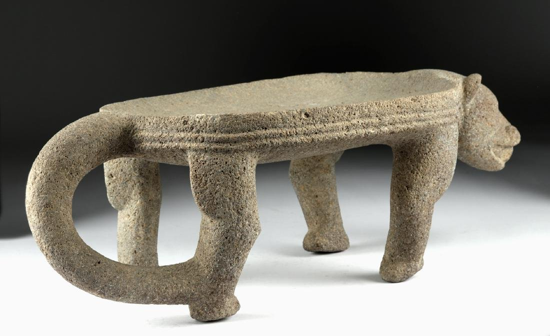 Chiriqui Large Stone Jaguar Metate - 4