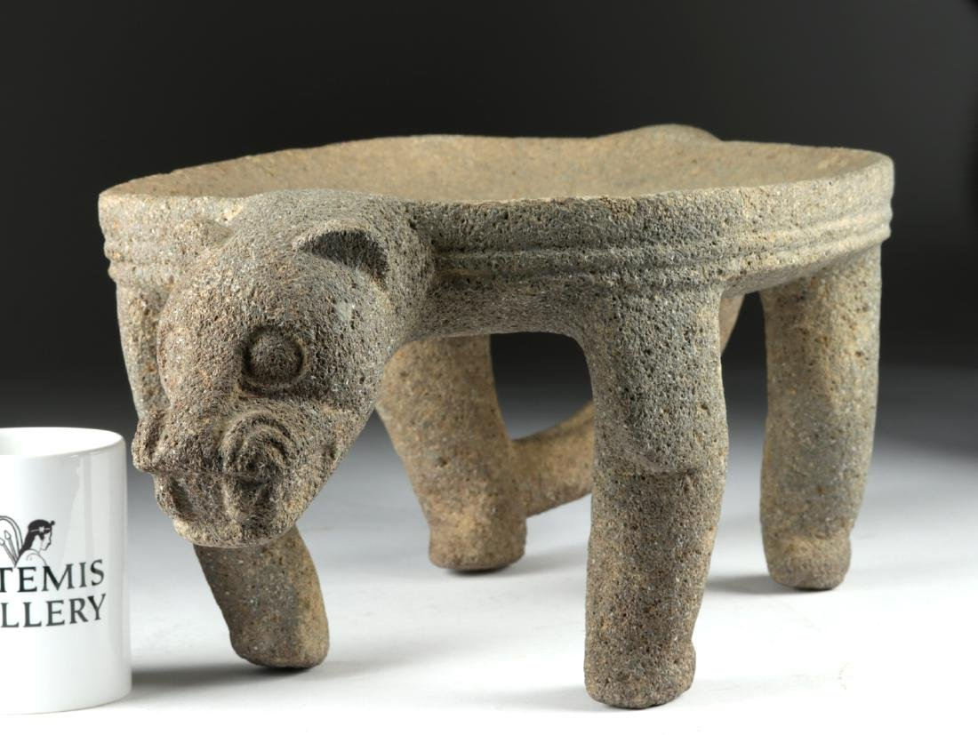 Chiriqui Large Stone Jaguar Metate - 6