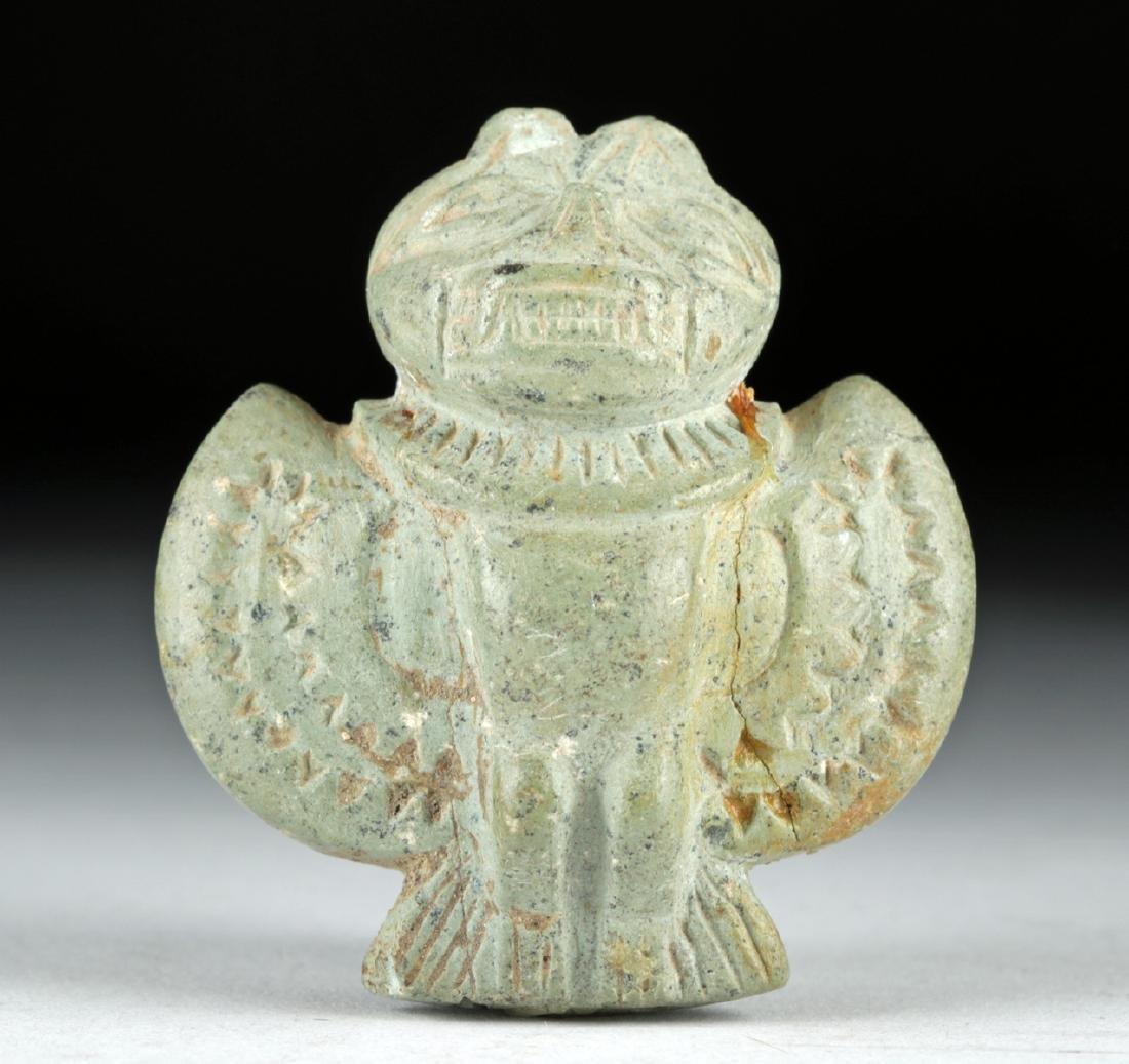 Fine Tairona Carved Steatite Whistle - Bat Form