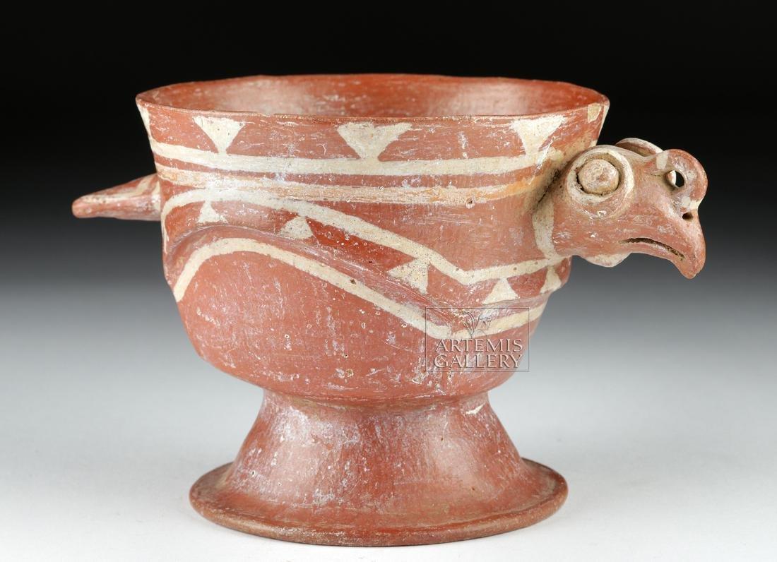 Aztec Bichrome Pottery Chalice - Turkey Form - 2