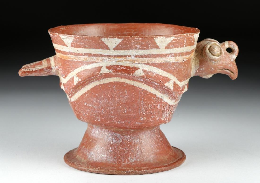 Aztec Bichrome Pottery Chalice - Turkey Form - 3