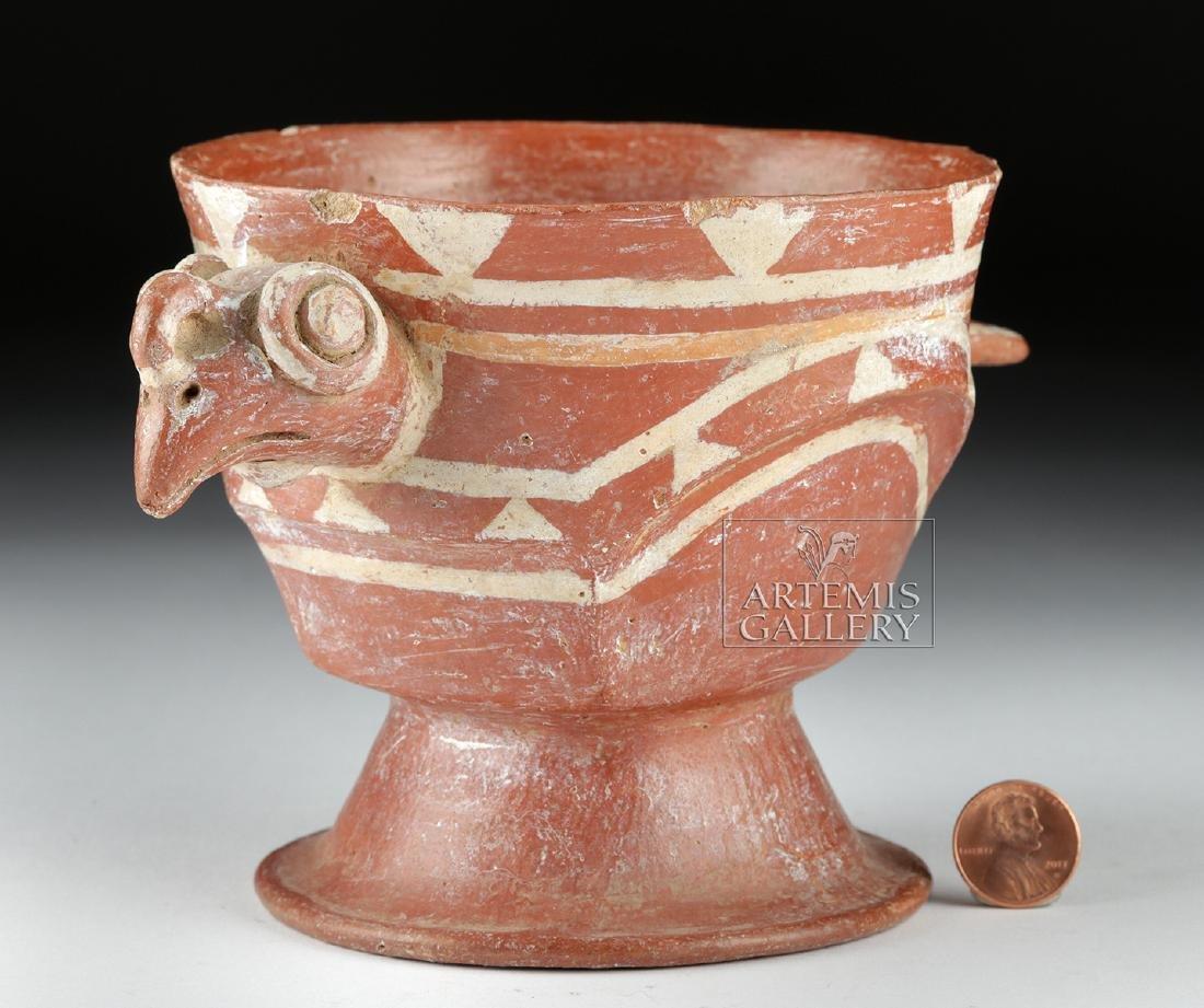 Aztec Bichrome Pottery Chalice - Turkey Form - 5
