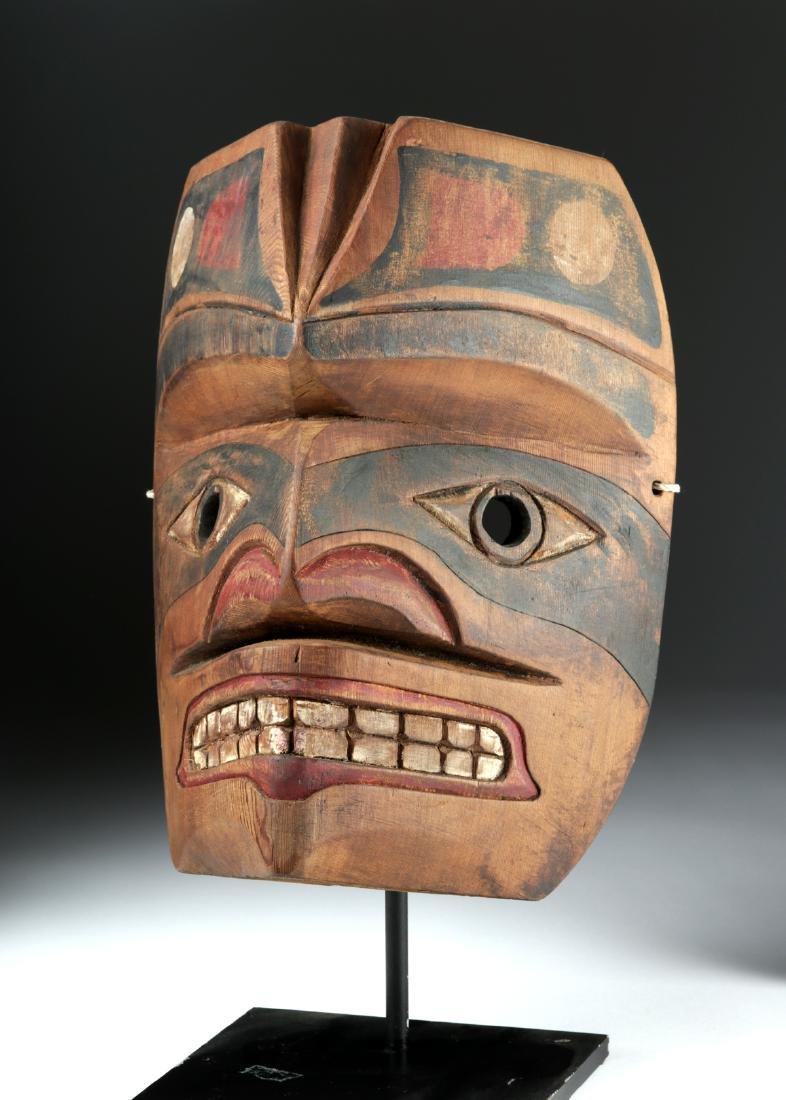 Early 20th C. Pacific Northwest Nootka Makah Wood Mask