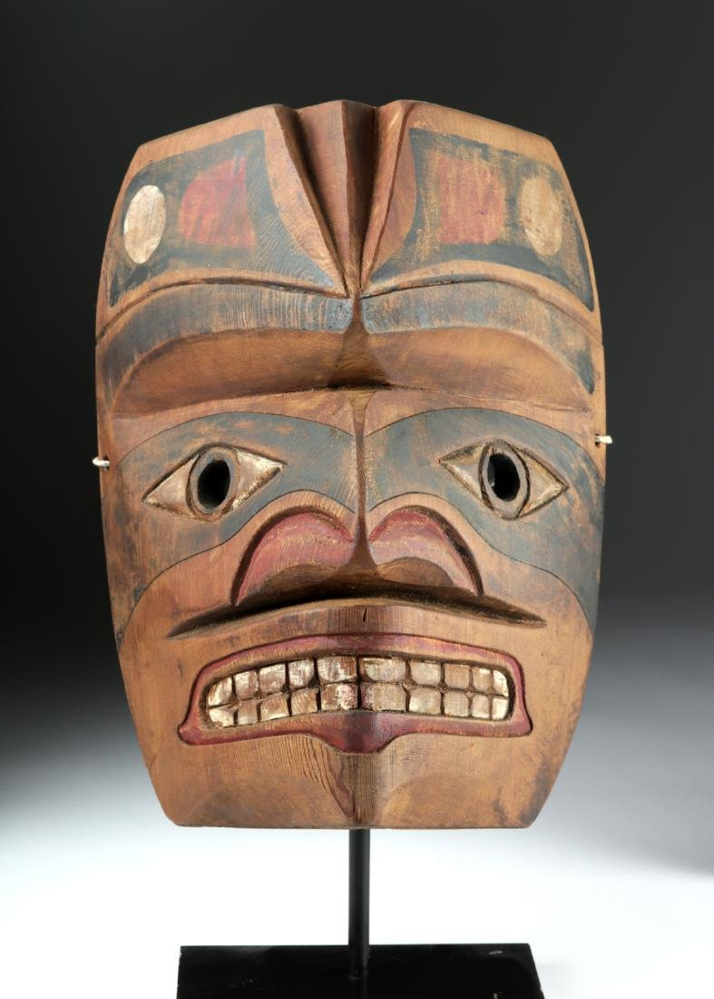 Early 20th C. Pacific Northwest Nootka Makah Wood Mask - 2
