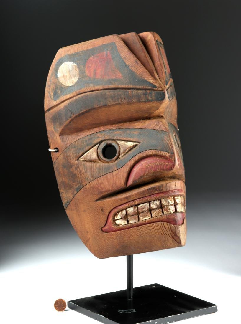 Early 20th C. Pacific Northwest Nootka Makah Wood Mask - 3