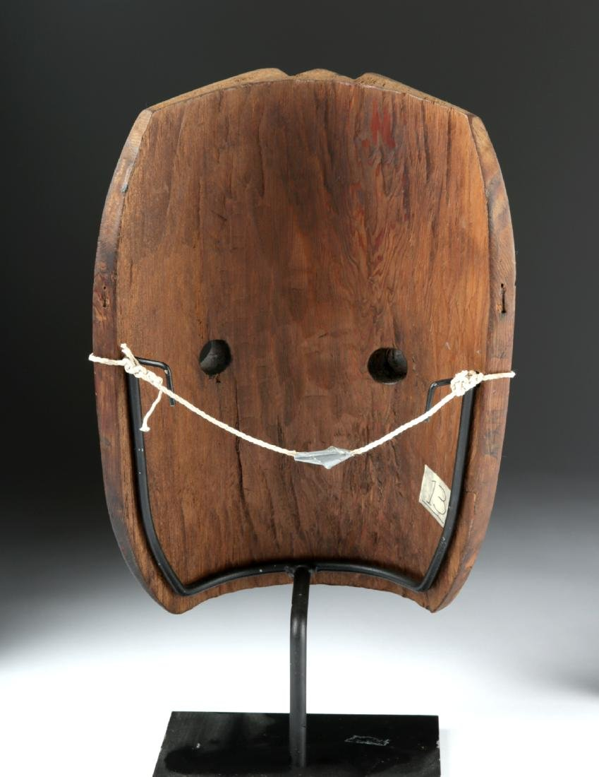Early 20th C. Pacific Northwest Nootka Makah Wood Mask - 4