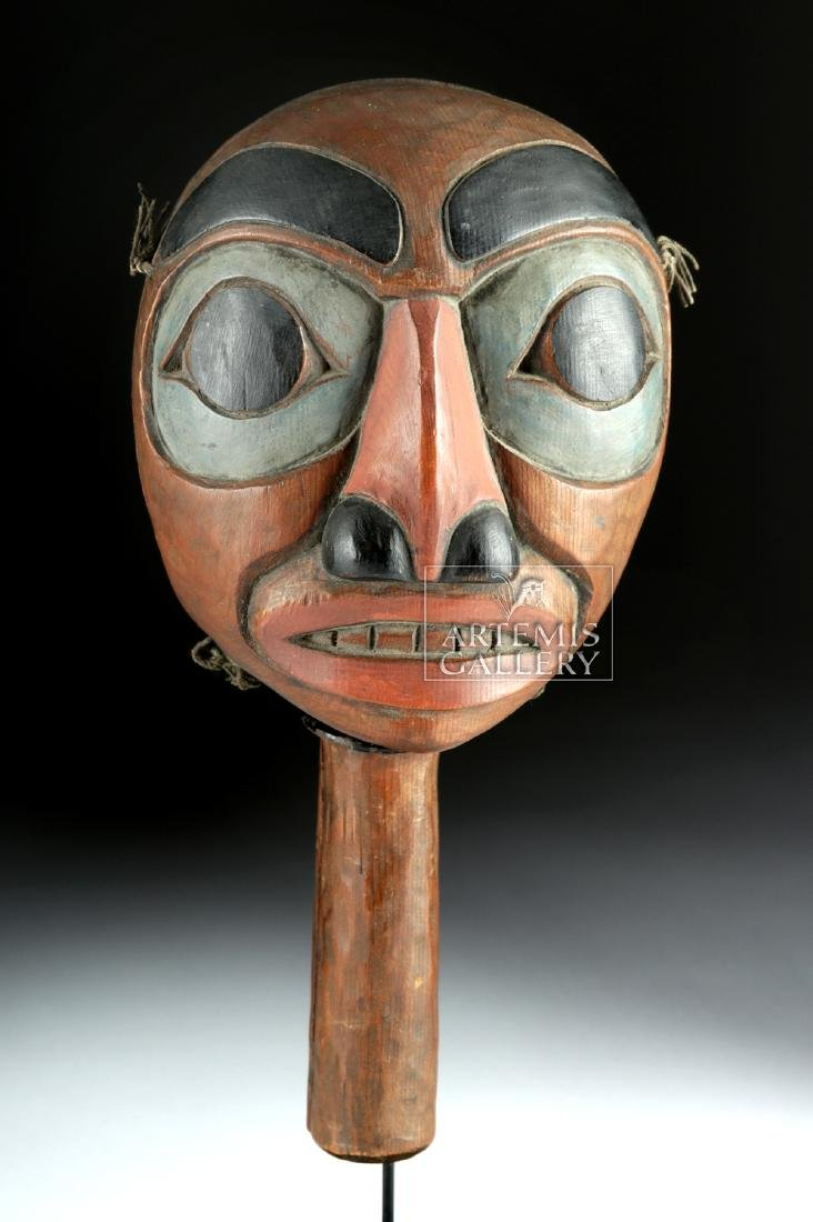 Early 20th C. Pacific Northwest Coast Haida Wood Rattle