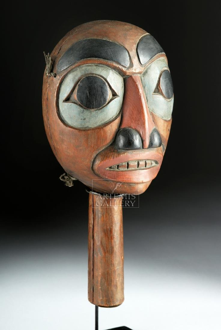 Early 20th C. Pacific Northwest Coast Haida Wood Rattle - 2