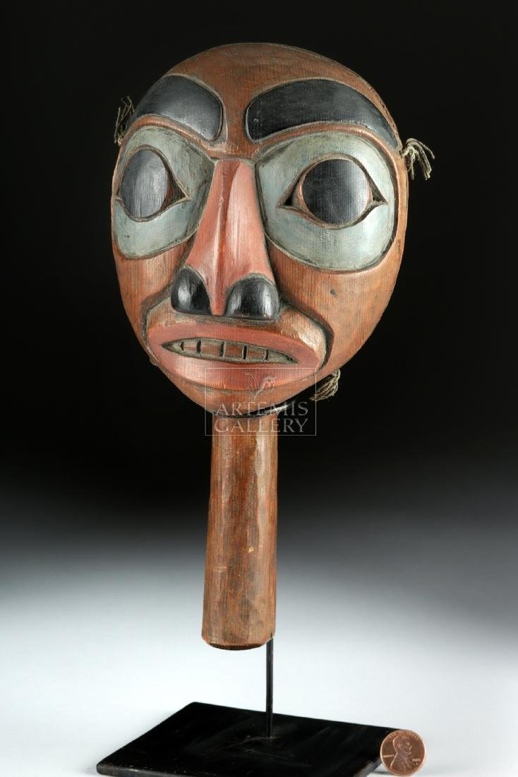Early 20th C. Pacific Northwest Coast Haida Wood Rattle - 3