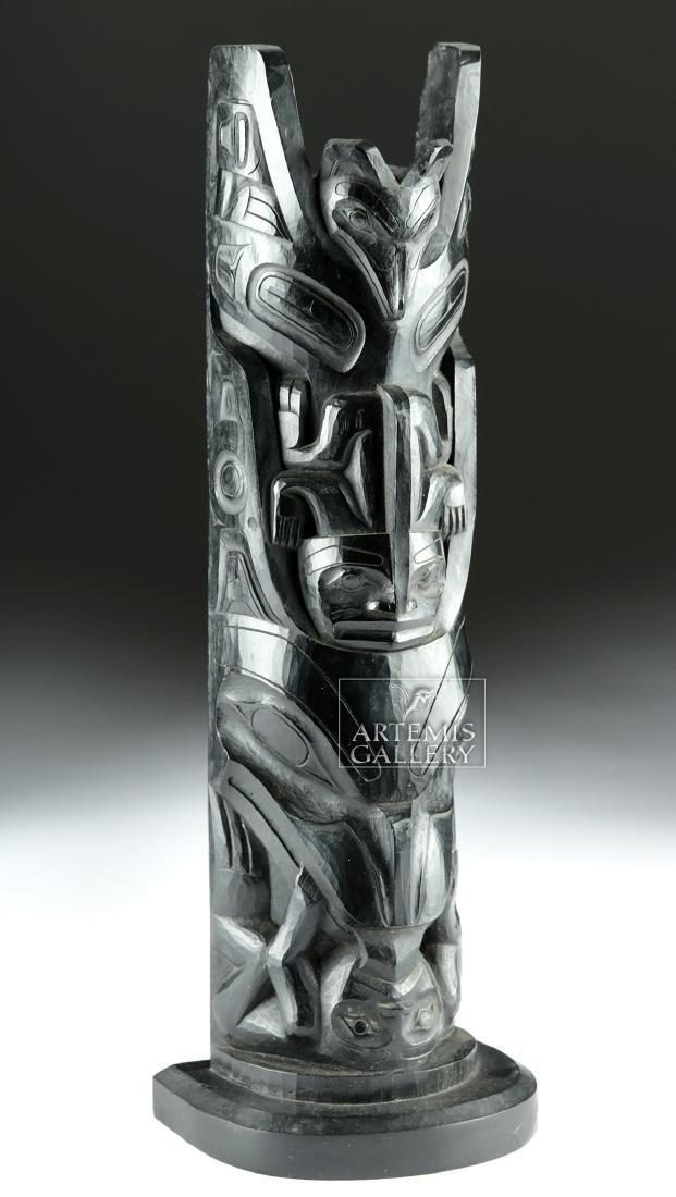 Early 20th C. Pacific Northwest Haida Argillite Totem