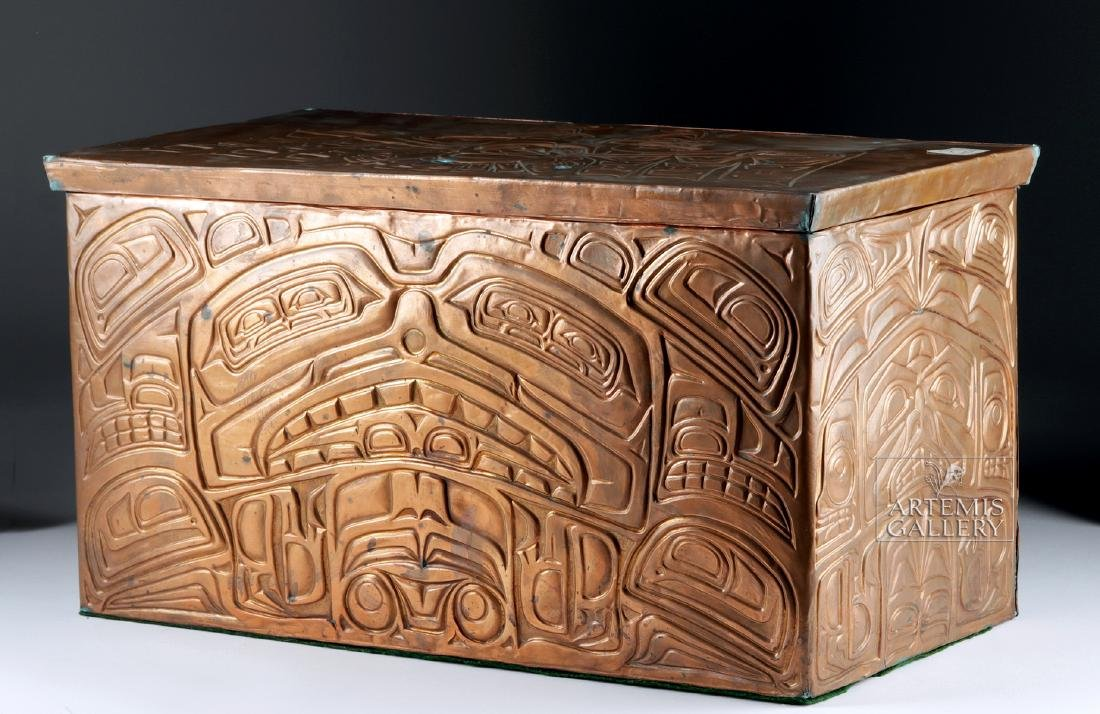 Pacific Northwest Copper Bentwood Box by Richard Dicks