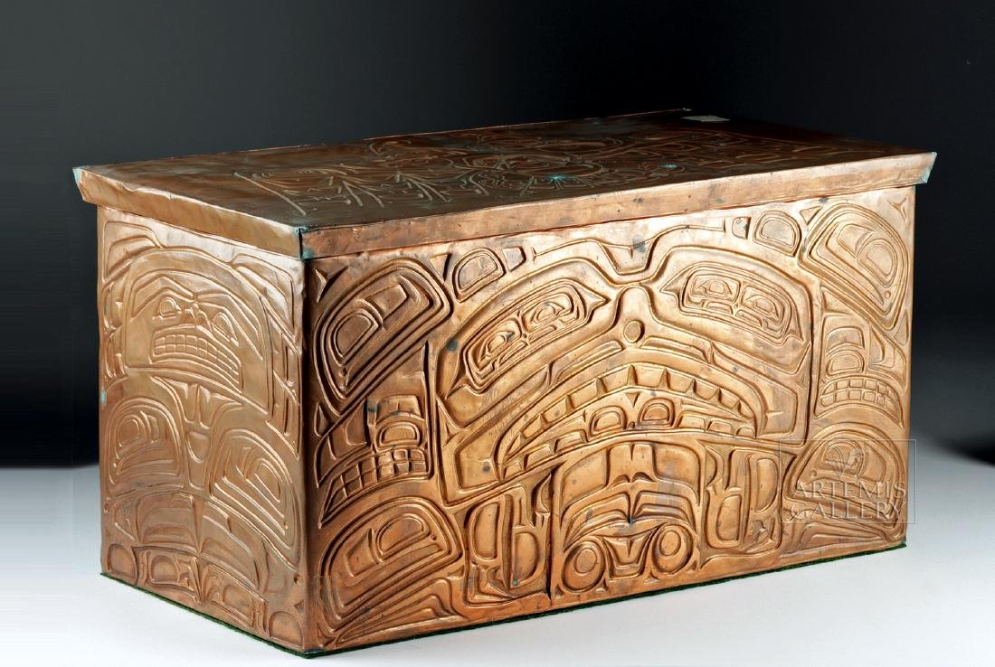 Pacific Northwest Copper Bentwood Box by Richard Dicks - 2