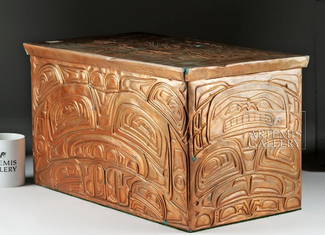 Pacific Northwest Copper Bentwood Box by Richard Dicks - 3