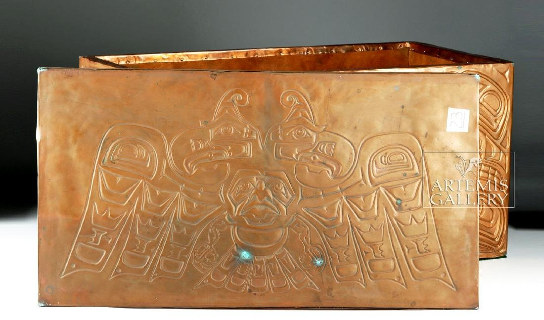 Pacific Northwest Copper Bentwood Box by Richard Dicks - 4