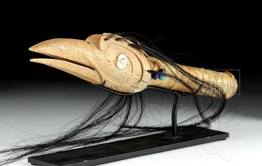 20th C. Pacific Northwest Haida Carved Bone - Bird Form